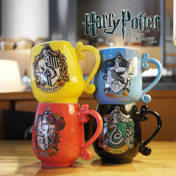 Personality Movie Harry Potter Ceramic Mug Anime Tea Coffee Mug Funny Porcelain Zakka Tumbler For Children Friend Gift