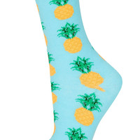 Turquoise Pineapple Ankle Sock - New In This Week - New In - Topshop USA