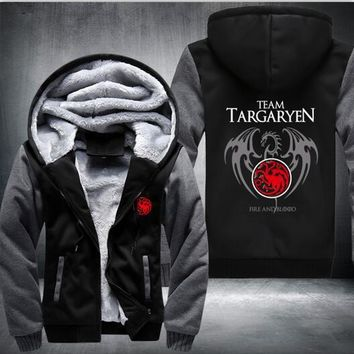 Game Of Thrones House Of Targaryen Super Warm Thick Fleece USA Size