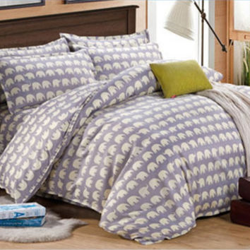 Home textile,Fashion winter 4 Pcs bedding sets luxury include Duvet Cover + Bed sheet + Pillowcase,jogo de cama dekbedovertrek