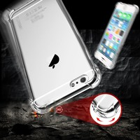 FLOVEME For iPhone 6 6S Plus Drop-proof Cover Fashion TPU Rubber Crystal Clear Case For iPhone 6 6S Plus For Samsung S7/ S7 Edge