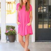 Weekend Wonder Dress - Hot Pink