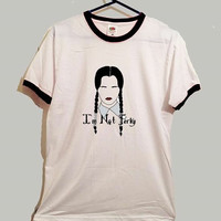 Wednesday addams ringer tshirt goth emo cool