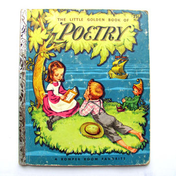 Vintage The Little Golden Book of Poetry 1947 Corinne Malvern Romper Room Favorite