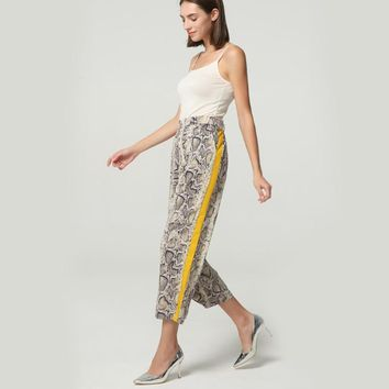 Python Striped Casual Trousers