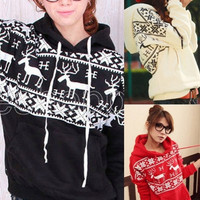Womens Korean Long Sleeve Hoodies Sweaters Coat Tank Tops