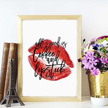 But First Cofffe,MAKEUP QUOTE,MAKEUP Print,Wake Up And Makeup,Bathroom,Lashes Digital Art,Chic Print,Fashionista,Gift For Girlfriend,