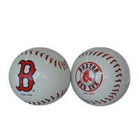 MLB Boston Red Sox Sculpted Baseball Shaped Salt and Pepper Shakers, White
