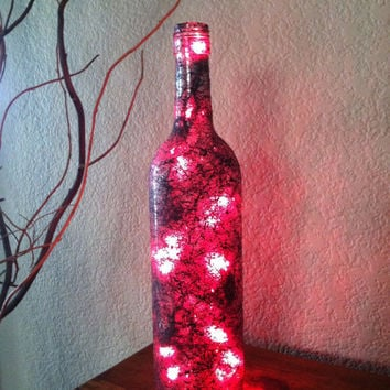 Designs By KKay On Wanelo Enchanting Decorated Wine Bottles With Lights Inside