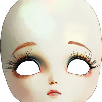 creepy mask porcelain doll head png clip art Digital Image Download toy clip art graphics printables