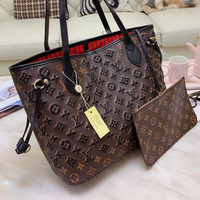 Louis Vuitton LV Women Embroidery shopping bags for old flowers