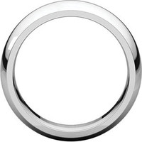 Sterling Silver 7mm Comfort Fit Wedding Band: RingSize: IR7_905_P