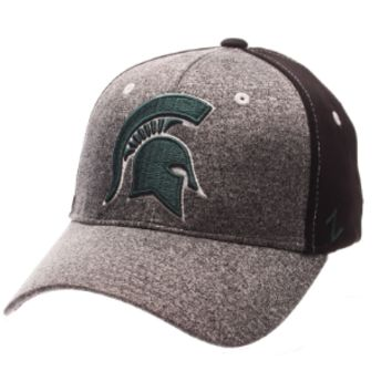 Michigan State Spartans Zephyr Graphite Two Tone Stretch Fit Hat