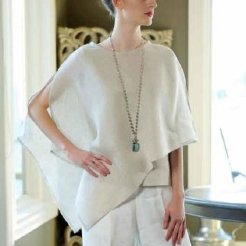 Light Linen Poncho - Sabrina