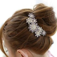 CAETLE® Beautiful Jewelry Flowers Crystal Hair Clip with CAETLE Box