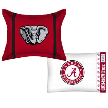 NCAA Alabama Crimson Tide MVP Pillow Sham Pillowcase Set