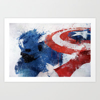 Captain America Art Print by Melissa Smith