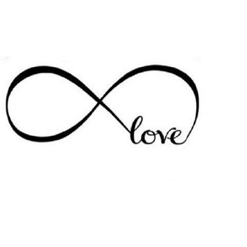 Infinity Symbol Word Love Vinyl Art Wall Sticker Wall Decal