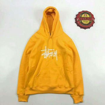 ESBUF3 Stussy  Fashion Monogram Print Long Sleeve Hoodie Pullover Sweater G-JJ-LHYCWM