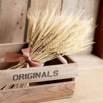 Natural Autumn Wheat Flowers DIY Wedding Party Decoration