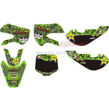 2002-2008 KLX110 KX65 3M Graphics Decals & Sticker  kit for KAWASAKI MOTO RACING dirt pit bikes