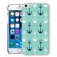 ChiChiC Iphone case, i phone 6 case, iphone6 case,iphone 6 case,iphone 6 4.7 cases, plastic cases back cover skin protector,turquoise anchor sea