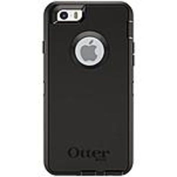OtterBox 77-50206 Defender Carrying Case (Holster) for iPhone - Black - Bump Resistant Interior, Drop Resistant Interior, Scrape Resistant Interior, Scratch Resistant Screen Protector, Scuff Resistant Screen Protector, Damage Resistant Interior, Dust Resi
