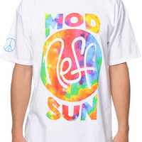 Neff X Mod Sun Collaboration White & Tie Dye Tee Shirt