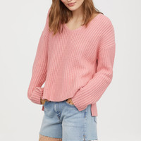 Rib-knit Sweater - Pink - Ladies | H&M US