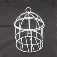 Mini Metal Wire Bird Cage, 4-inch, White