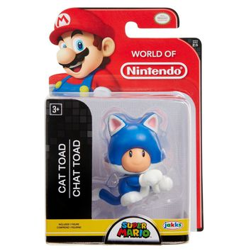 "Cat Toad 2.5"" Mini Figure World of Nintendo NEW"