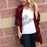 Hello Weekend boyfriend t-shirt