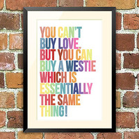 Westie Dog Print, For Pet Lovers
