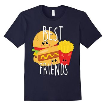Bestie Shirt Cute Food BFF Best Friend Burgers Fries Hot Dog
