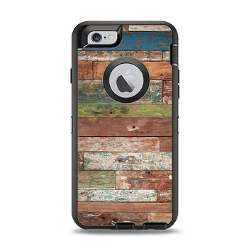 The Vintage Wood Planks Apple iPhone 6 Otterbox Defender Case Skin Set