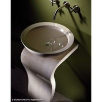 Stone Forest Wave Pedestal - Bathroom Sinks - Modenus Catalog