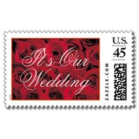 Red Roses (1), It's Our Wedding Postage from Zazzle.com