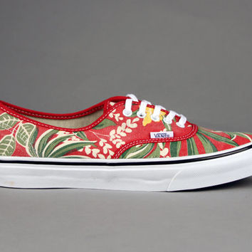 Vans - Vans  - Van Doren Authentic Slim (Red Hawaiian) - Ubiq Life