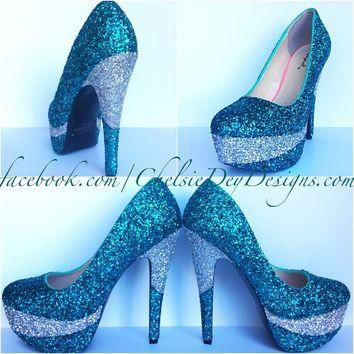all color 9e1bc a58af blue and silver wedding shoes wanelo.co ... 0fece12960fd