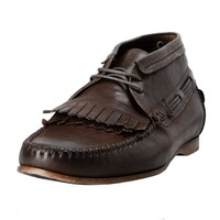 Dolce & Gabbana Men's Brown Leather Casual Oxfords Boat Shoes