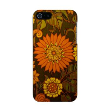 Daisy Print Metallic iPhone SE/5/5s Case