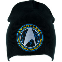 Starfleet Enterprise Star Trek Beanie Alternative Style Clothing Knit Cap Cosplay
