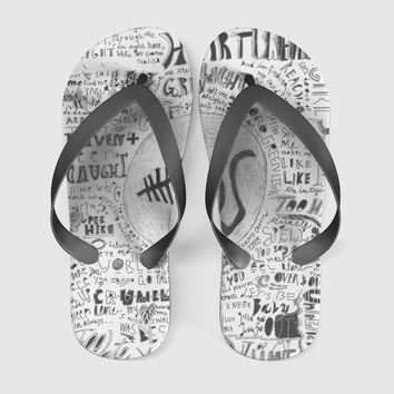 5 sos collage Flip Flops Men Women