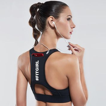 Exclusive Sports Bra with back pocket