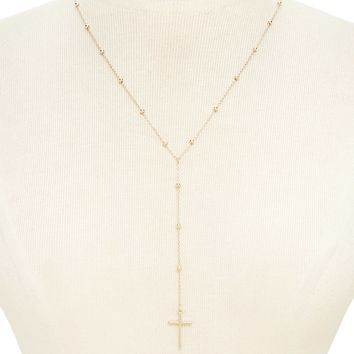 Cross Pendant Drop Necklace