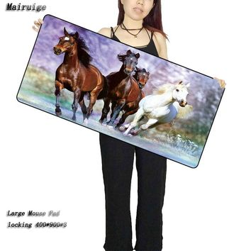 Mairuige Shop Custom Running Horse Animal  Computer Large Mouse Pads Laptop Keyboard Mat for League of Legends LOL Free Shipping