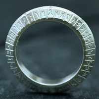 STARGATE SG1 Inspired Sterling Silver Ring by VaLaJewellery