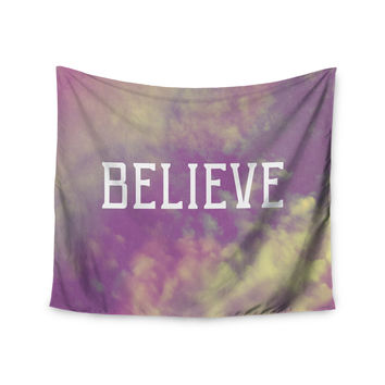 "Rachel Burbee ""Believe"" Purple Clouds Wall Tapestry"