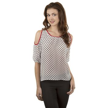 IZ Byer California High-Low Cold-Shoulder Top - Juniors, Size: