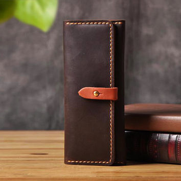 Mens iPhone 6 6s Leather Wallet, Custom Leather iPhone 6 6s Case Wallet , iPhone 6 6s Wallet Case , Genuine Leather iPhone 6 6s Wallet
